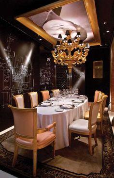 Ramses Restaurant, Madrid, Spain designed by Philippe Starck