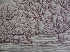 Ramona's Over The River Quilt Crabapple Hill, Arizona, Over The River, Machine Quilting, Blackwork, Quilt Patterns, Embroidery, Quilts, Cactus