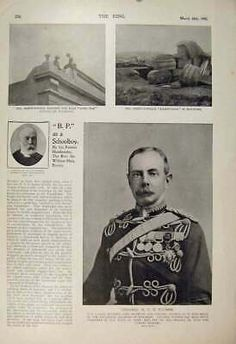 Original Old Antique Print Boer War Africa 1900 Brown Plumer Mafeking Victorian | eBay