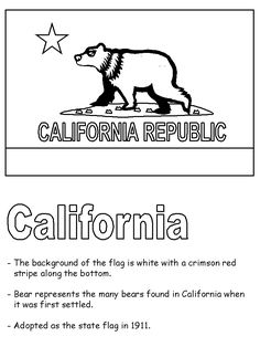 Free printable for California state symbols and geography terms