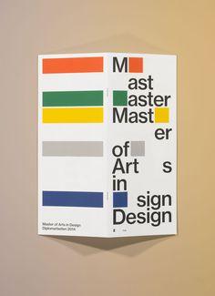 Werk Eine Serie von typografischen Postern und Flyern für unterschiedliche…