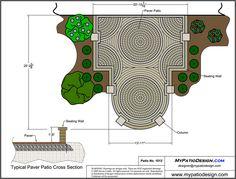 Symmetrical Patio Design With Fire Pit - Patio Designs & Ideas