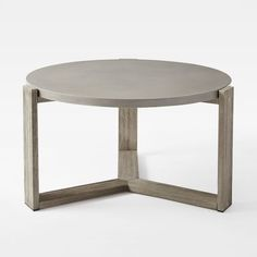 "Mosaic Coffee Table - Solid Concrete Top | west elm.  No longer available Diameters: 32.5""diam. x 17""h."
