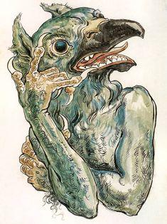 Jan Matejko - Diabeł z Głową Ptaka. (Have your demons call my demons . Bird People, My Demons, Art Database, Great Artists, Fine Art America, Devil, Cool Art, Illustration Art, Illustrations