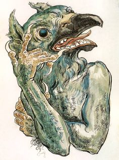 Jan Matejko - Diabeł z Głową Ptaka. N.d. (Have your demons call my demons . . . )