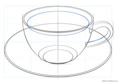 How to Draw a Tea Cup (Beginning) – sketch2draw.com | Wish I could ...
