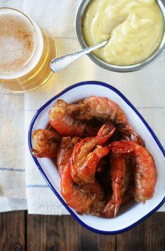 Shrimp and aioli by Fanni ja Kaneli