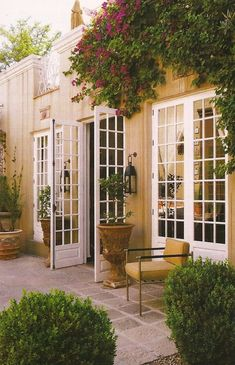French doors onto the terrace