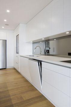 Apartment Kitchen Transformed Into Social Hub Integrated VZUG dishwasher & KWC Eve tap beyond Kitchen Room Design, Modern Kitchen Design, Home Decor Kitchen, Kitchen Living, Kitchen Interior, Decorating Kitchen, Kitchen Ideas, Kitchen Tips, Luxury Kitchens