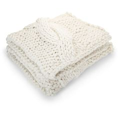 crate u0026 barrel cozy knit ivory throw u20ac120 liked on polyvore featuring home bed u0026 bath bedding blankets knit throw blanket cable knit throws