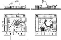plan of  parliament building chandigarh - lecorbusier
