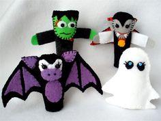 Halloween Finger Puppet Set: