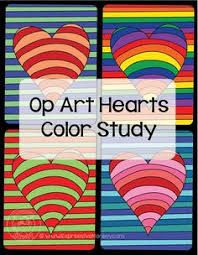 Image result for valentines heart op art