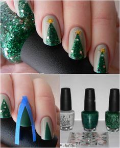 Realistic Tree - 20 Fantastic DIY Christmas Nail Art Designs That Are Borderline Genius