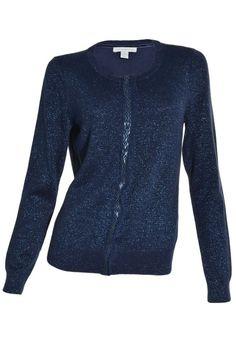 Charter Club Sparkle Cardigan Sweater Long Sleeve Metallic Embellished Top NEW #CharterClub #Cardigan