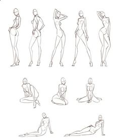 Cuerpo -- body sketches Must practise these basic croquiis - FREE Website Design Limited time Offer by http://torontowebsitedesign.biz/free-website-design-2/