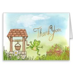 Thank You Card, Standard white envelopes included