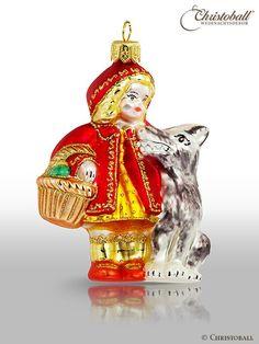 Little red riding hood ornament größere Formen Weihnachtskugel Rotkäppchen