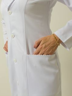 66 ideas medical doctor outfit fashion lab coats for 2019 Doctor White Coat, Doctor Coat, Work Fashion, Fashion Outfits, Scrubs Uniform, Lab Coats, Medical Uniforms, Nursing Dress, Blazer Outfits