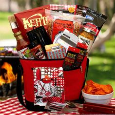 Buy The Master Griller BBQ Gift Chest. Gift Baskets - The Master Griller BBQ Gift Chest. The Master Griller BBQ Gift ChestSet your favorite griller up this barbecue season with a gift set featuring Classic BBQ Sauce barbecue kettle chips beer cheese dip f Send Gift Basket, Gift Baskets For Men, Themed Gift Baskets, Gourmet Gift Baskets, Raffle Baskets, Gourmet Gifts, Fundraiser Baskets, Theme Baskets, Bbq Gifts