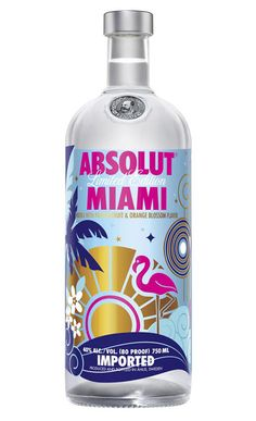 This Absolut Miami bottle is Miami embodied in graphics!