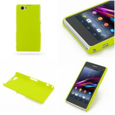 PDair Rubberized Hard Cover for Sony Xperia Z1 Compact D5503 (Yellow)