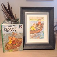 Turning vintage illustrations into new items to cherish by CherishByNicola Ladybird Books, Plays, Etsy Seller, Barn, Unique Jewelry, Frame, Illustration, Handmade Gifts, Vintage