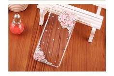 This case is designed for iPhone 6, with artificial Swarovski diamond, it is flower pattern, leading a high fashion, very cute and hot selling cover case.