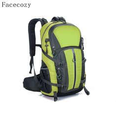 Facecozy Outdoor Camping Wear Resistant 40L Backpack Mountaineering Hunting Travel  Backpack Big Capacity Waterproof Sports Bag 2cf08f65737f8