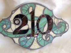Stained Glass Mosaic House Numbers via Etsy.