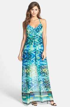 Marc New York by Andrew Marc Geo Print Maxi Dress available at #Nordstrom.....b♡