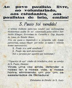 1932 - Folheto circulado na época da revolução constitucionalista.