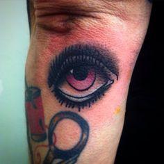 Traditional eye tattoo. Custom traditional tattoos by Cherri Andrews. London, UK. Cherriandrewstattoo@gmail.com   #traditionaltattoo #oldschooltattoo #tattoo #classictattoo #eyetattoo #traditionaleyetattoo #allseeingeye #richmondhill #londontattoo #london #kingstonuponthames #westlondon #richmond