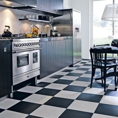 Best Images Black and white flooring ideas| Black White Kitchen Design & Decor Ideas