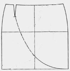 yo elijo coser: Patrón gratis: falda tulipán con drapeado (todas las tallas) parte interna sin drapeado