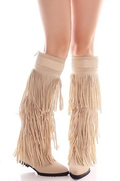 NUDE NEW BUCK POINTED TOE FRINGE DESIGN KNEE BOOTS,Women's Boots-Sexy Boots,Heel Boots,Flat Boots,Over The Knee Boots,Knee High Boots,Thigh High Boots,Fringe Boots,Cowboy Boots,Suede Fringe Boots,Rider Boots,Combat Boots,High Heel Boots,Platform Boots,Western Boots,Black Suede Boots,Gladiator Boots