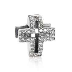Christian Cross Charm 925 Sterling Silver