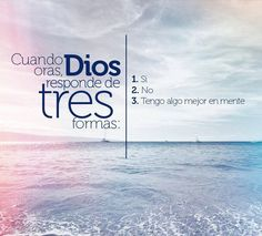 Dios escucha : ) No llega antes ni después, siempre en el momento oportuno : ) El es fiel ♡