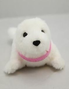 "12"" Stuffed Animal White Seal made by Douglas Toys"