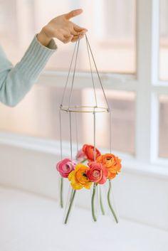 DIY Hanging Vase Chandelier