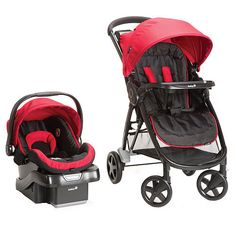 """Safety 1st Step and Go Travel System Stroller - Scarlet Red - Safety 1st  - Babies""""R""""Us"""
