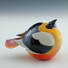 Vogel van keramiek - Ceramic bird by Terri Axness #art