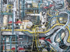 Oil Refinery - Acrylic on Canvas (40cm x 30cm) SOLD Oil Refinery, Abstract, Canvas, Gallery, Artwork, Painting, Summary, Tela, Work Of Art