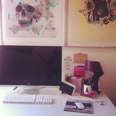 My home office #hjemmekontorBoka2012 #quote #print #design #apple #creativespace - @ideastosteal- #webstagram