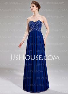 Prom Dresses - $142.99 - A-Line/Princess Sweetheart Floor-Length Chiffon Prom Dresses With Ruffle Beading Sequins (018004801) http://jjshouse.com/A-Line-Princess-Sweetheart-Floor-Length-Chiffon-Prom-Dresses-With-Ruffle-Beading-Sequins-018004801-g4801