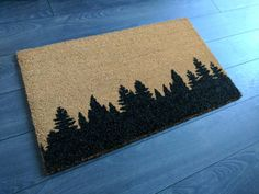 Check out our rugs selection for the very best in unique or custom, handmade pieces from our shops. Coir Doormat, Happy House, Tree Tops, Welcome Mats, Rug Cleaning, Eat Sleep, Rug Making, Deco, Burlap
