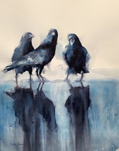 The Three graces by Sarah Yeoman Watercolor ~ 42 x 32