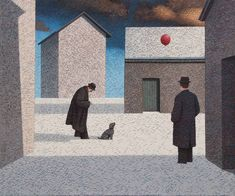 Catto Gallery | Mark Edwards Solo Exhibition 2016 | Dog Watching a Balloon