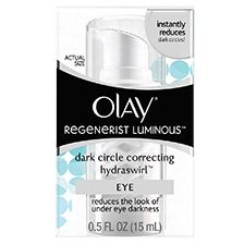 Olay Regenerist Luminous Dark Circle Correcting HydraSwirl Eye Cream - contains soothing botanicals that allow for the formation of blood cells underneath the eye-area to loosen and reduces redness. Eye Treatment, Skin Care Treatments, Oil Of Olaz, Reduce Dark Circles, Eyeshadow For Brown Eyes, Olay Regenerist, Eyes Lips Face, Dull Skin, Even Skin Tone