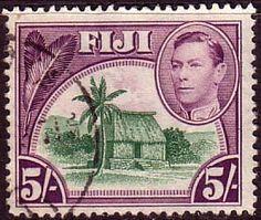 Fiji 1938 SG 266 Chiefs Hut Fine Used Scott 131 Other Old Postage stamps here  More about #stamps: http://sammler.com/stamps/ Mehr über #Briefmarken: http://sammler.com/bm